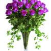 24 rose rosa a stelo lungo