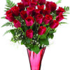 24 rose rosse a stelo lungo