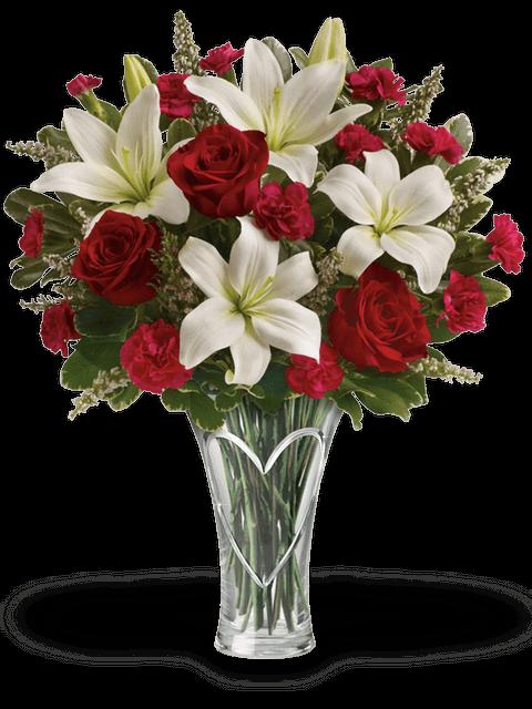 bouquet di rose e garofani