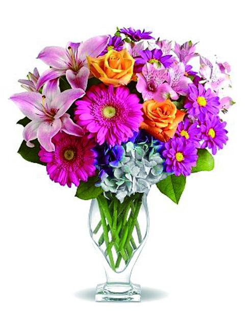 mazzo di fiori misti colorati