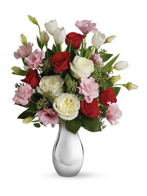rose rosse rosa e bianche